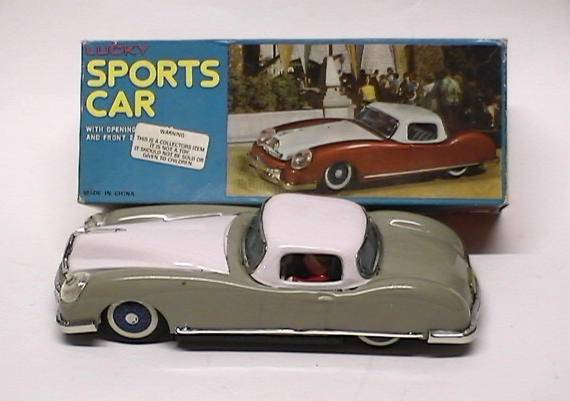 "Chinese - Lucky Sports Car (Friction) 8"" Date: 60's"