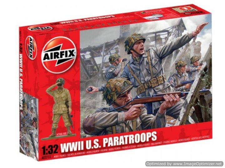 Airfix 1/32 02711 WWII US Paratroops