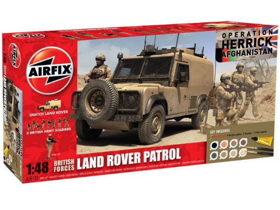 Airfix 1/48 50121 Operation Herrick British Forces - Land Rover Patrol Gift Set