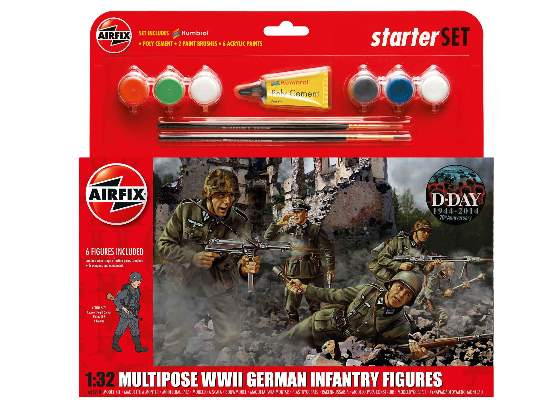 Airfix 1/32 55210 WWII German Infantry Multipose Figures - Starter / Gift Set
