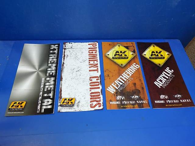 AK Interactive na 00005 Weathering, Pigment, Xtreme Metal and Acrylic Products Leaflets