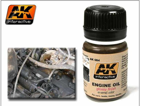 AK Interactive 35ml 00084 Engine Oil - glossy finish