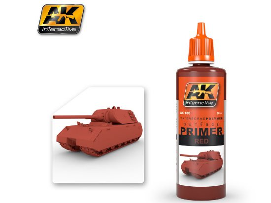 AK Interactive 60ml 00180 Red Primer - Waterbased Polymer