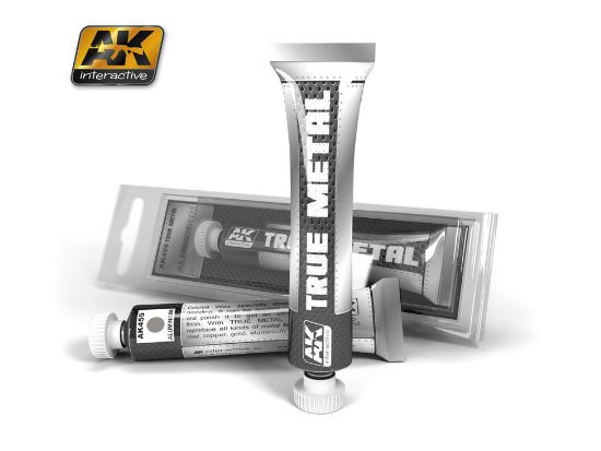 AK Interactive 20ml 00455 True Metal Paint - Aluminium