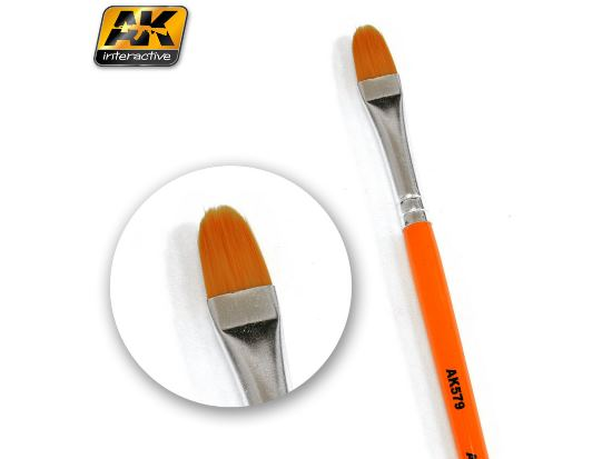 AK Interactive - 00579 Weathering Brush - Rounded