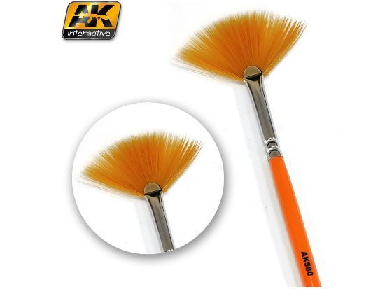 AK Interactive - 00580 Weathering Brush - Fan Shape