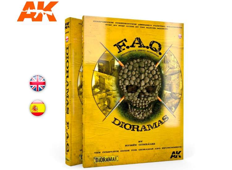 AK Interactive - 08000 Dioramas FAQ Book - 560 Pages