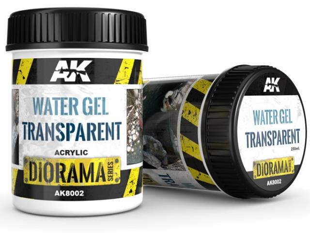 AK Interactive 250ml 08002 Acrylic Water Gel - Transparent