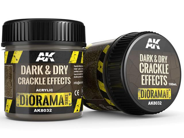 AK Interactive 100ml 08032 Dark and Dry Crackle Effects