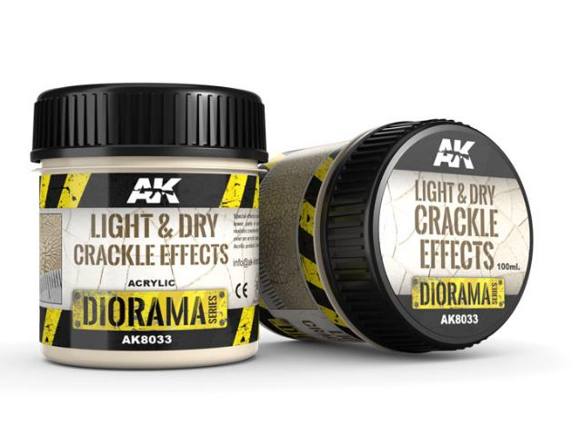AK Interactive 100ml 08033 Light and Dry Crackle Effects