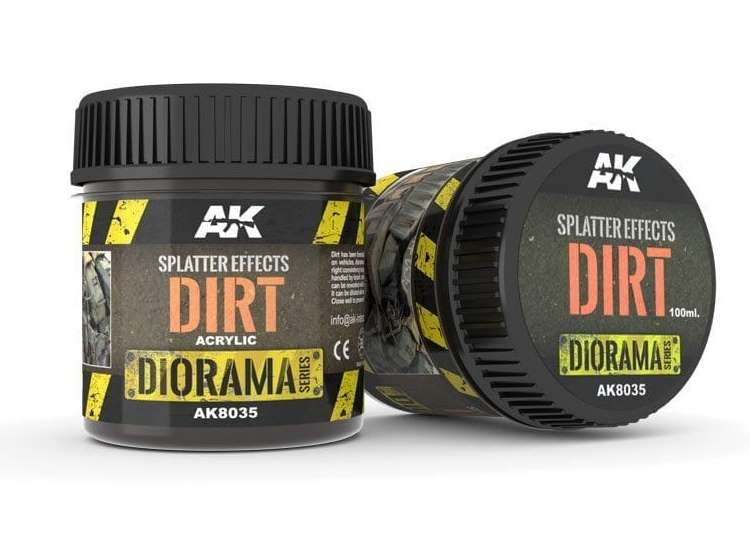 AK Interactive 100ml 08035 Splatter Effects - Dirt