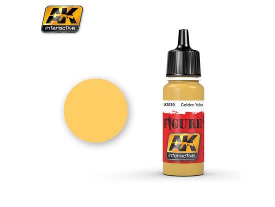 AK Interactive 17ml 3039 Figure Colour - Golden Yellow