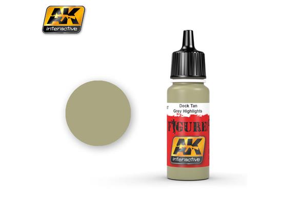AK Interactive 17ml 3067 Figure Colour - Deck Tan / Grey Highlights