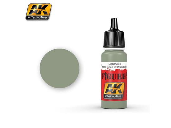 AK Interactive 17ml 3102 Figure Colour - Light Grey / Wwi French Uniform Light