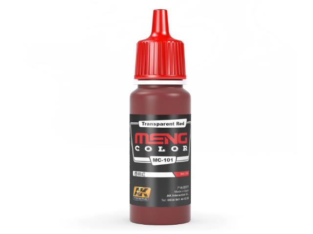 AK Interactive 17ml MC101 Transparent Red - Acrylic Paint
