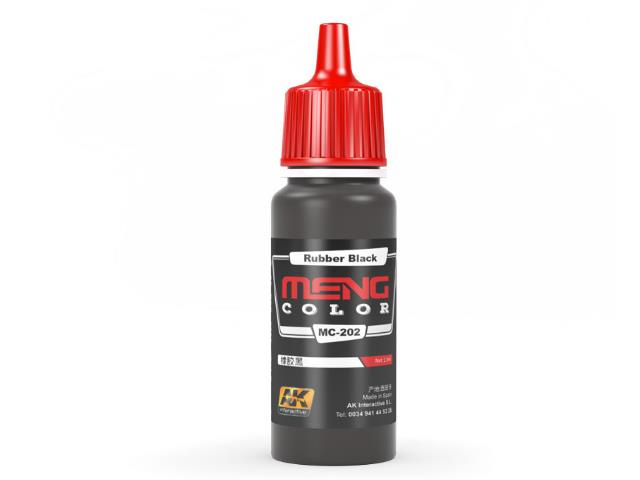 AK Interactive 17ml MC202 Rubber Black - Acrylic Paint