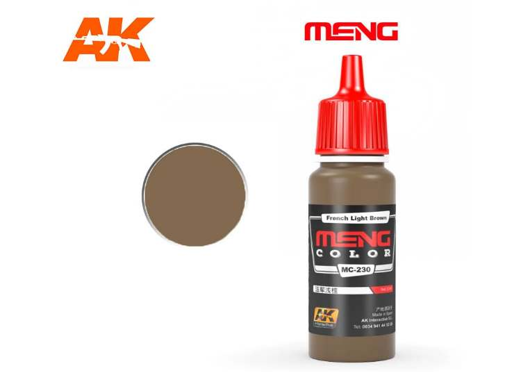 AK Interactive 17ml MC230 French Light Brown - Acrylic Paint