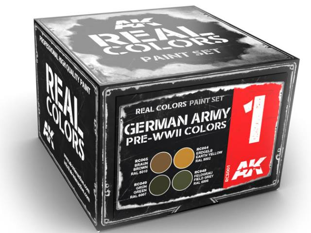 AK Interactive 10ml x4 RCS001 Real Colors Lacquer Paint Set - German Pre WWII