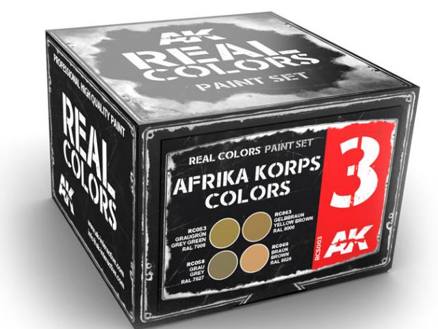 AK Interactive 10ml x4 RCS003 Real Colors Lacquer Paint Set - Afrika Korps