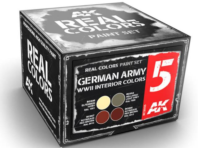 AK Interactive 10ml x4 RCS005 Real Colors Lacquer Paint Set - German WWII Interior