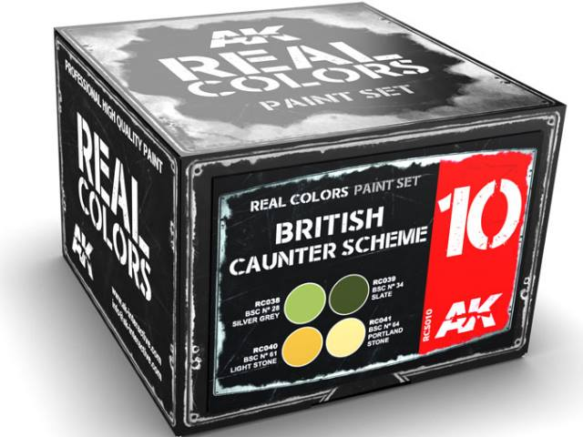 AK Interactive Real Colors Lacquer Paint Set - British Caunter Scheme