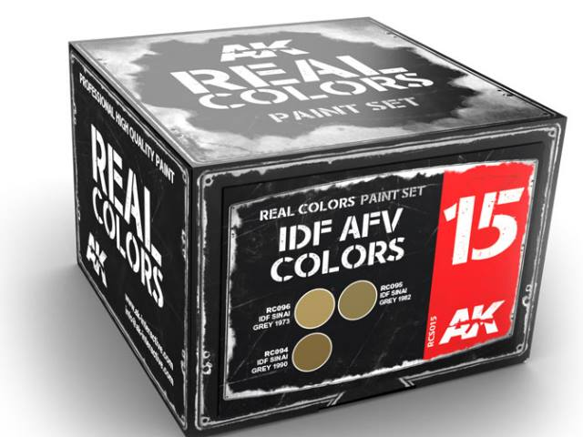 AK Interactive 10ml x3 RCS015 Real Colors Lacquer Paint Set - IDF AVF Colurs