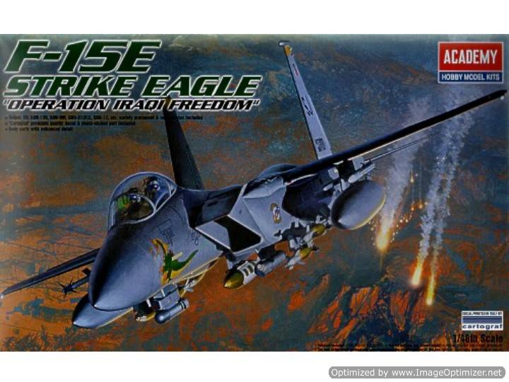 "Academy F-15E Strike Eagle ""Operation Iraqi Freedom"" 1/48 #12215"