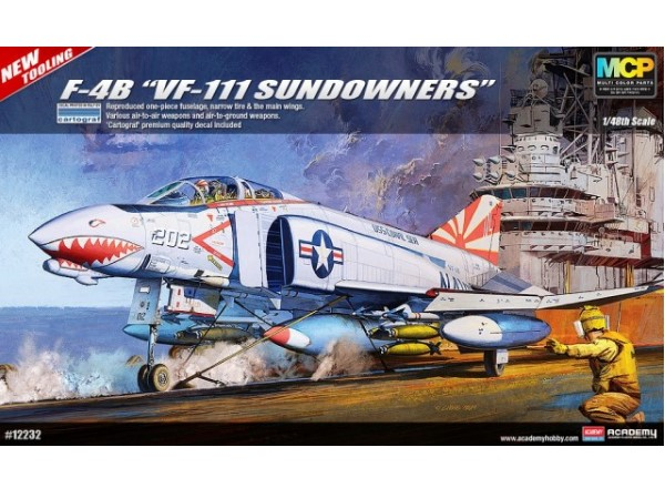 Academy 1/48 F-4B Phantom II VF-111 Sundowners 12232