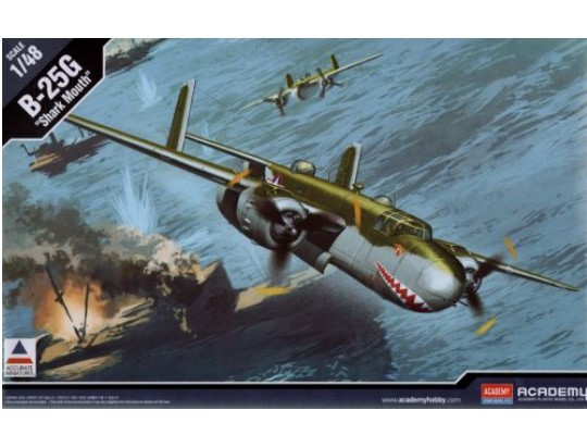 Academy 1/48 12290 North-American B-25G Mitchell Shark Mouth