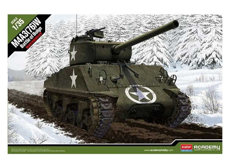 Academy 1/35 13500 M4A3 (76) W US Army Battle of Bulge