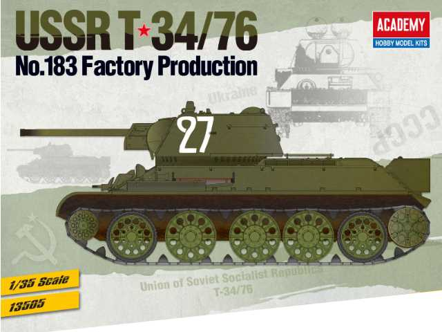 Academy 1/35 13505 USSR T-34/76 No.183 Factory Production