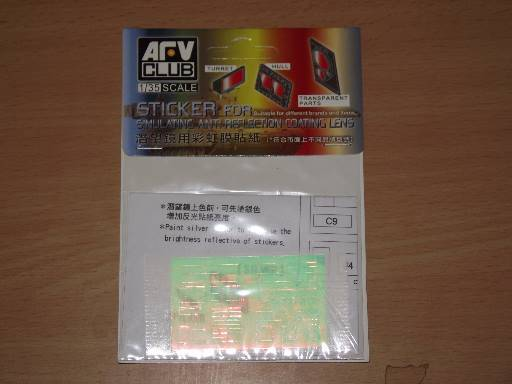 AFV Club 1/35 AC35015 Anti Reflection Coating for Leopard Periscope