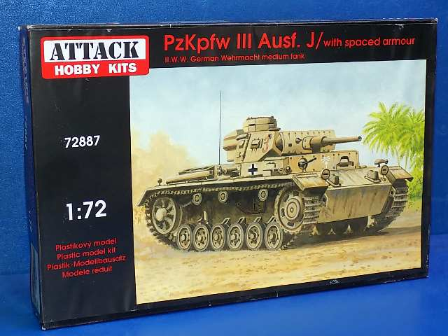 Attack 1/72 72887 Pz.Kpfw.III Ausf.J with spaced armour