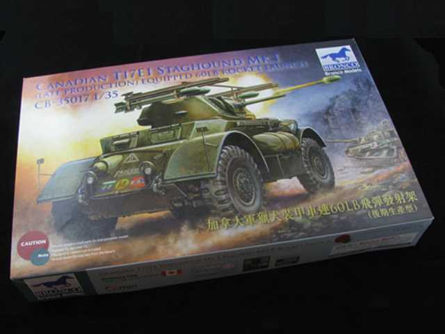 Bronco 1/35 35017 	Canadian T17E1 Staghound Mk. I w/60lb Rocket Launchers
