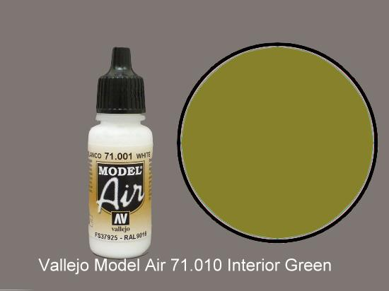 Vallejo 17ml MA010 Model Air - 010  Interior Green