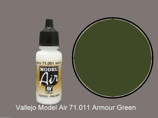 Vallejo 17ml MA011 Model Air - 011  Tank Green