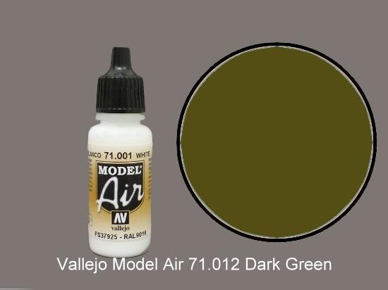 Vallejo 17ml MA012 Model Air - 012  Dark Green