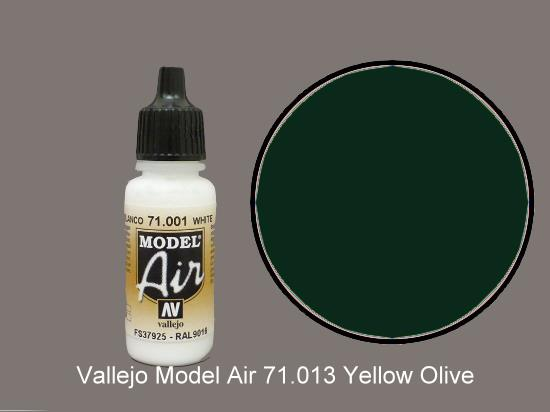 Vallejo 17ml MA013 Model Air - 013  Yellow Olive