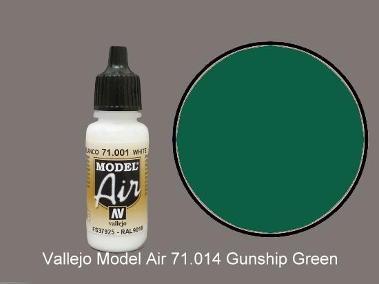 Vallejo 17ml MA014 Model Air - 014  Gunship Green