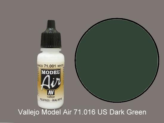 Vallejo 17ml MA016 Model Air - 016  US Dark Green