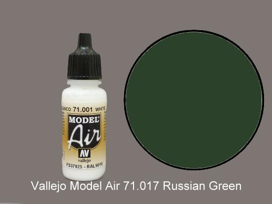 Vallejo 17ml MA017 Model Air - 017  Russian Green