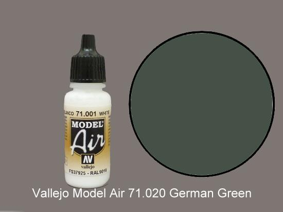 Vallejo 17ml MA020 Model Air - 020  German Green