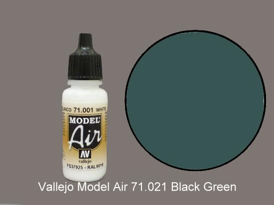 Vallejo 17ml MA021 Model Air - 021  Black Green