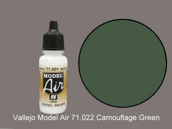 Vallejo 17ml MA022 Model Air - 022  Camouflage Green