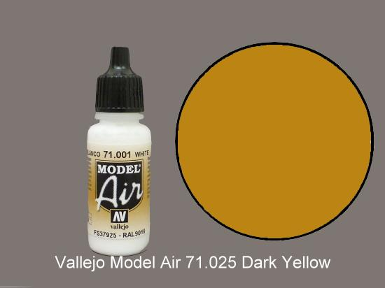 Vallejo 17ml MA025 Model Air - 025  Dark Yellow