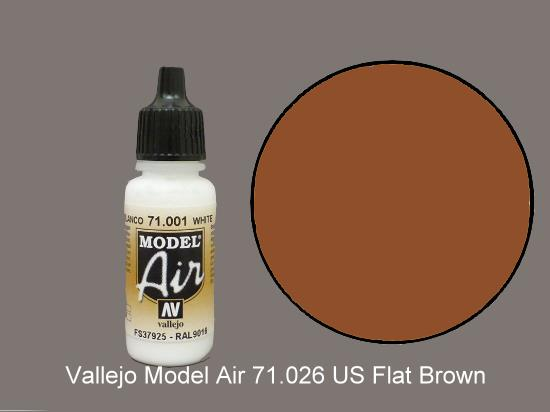 Vallejo 17ml MA026 Model Air - 026  US Flat Brown