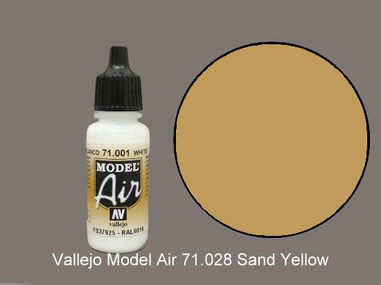 Vallejo 17ml MA028 Model Air - 028  Sand Yellow