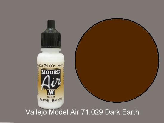 Vallejo 17ml MA029 Model Air - 029  Dark Earth