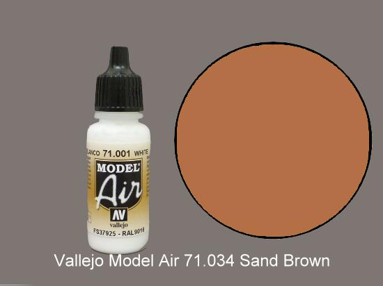 Vallejo 17ml MA034 Model Air - 034  Sandy Brown