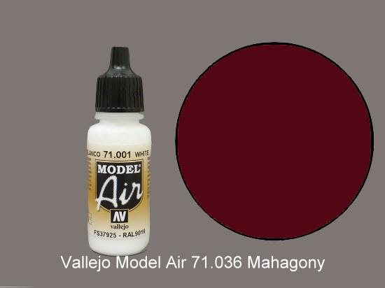 Vallejo 17ml MA036 Model Air - 036  Mahogany